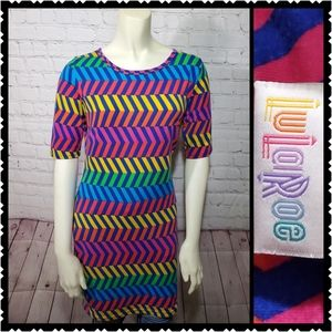 Lularoe Irma small tunic multicolor short sleeve